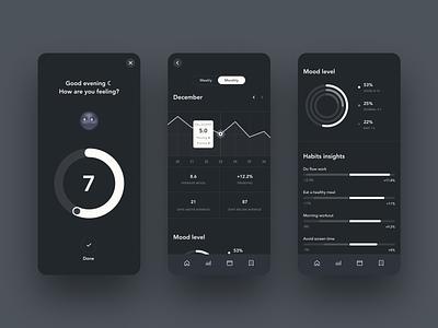 Ladder - Dark Mode app mobile dark daily 100 clear ui ux simple clean elegant minimal
