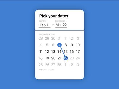 Daily UI #080: Date picker. date picker dailyui