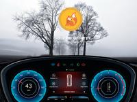 car dashboard for ice cream van