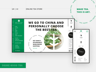 Concept website for tea shop swiss ecommerce branding website webdesign web concept design concept ui design