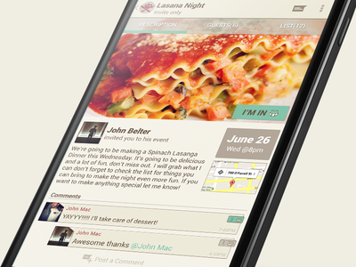 DinnerParty Events android ui nexus5 app ux mobile