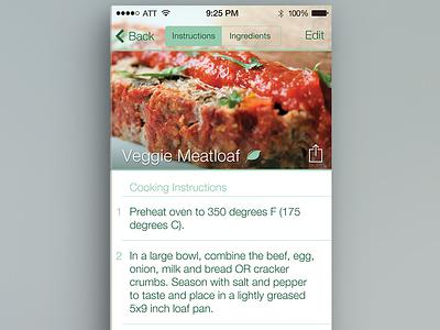 Recipes Details ios ui app iphone ios7