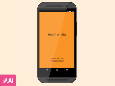 Htc One M8 Vector Mock Up android ui htc one (m8) htc vector mock up download
