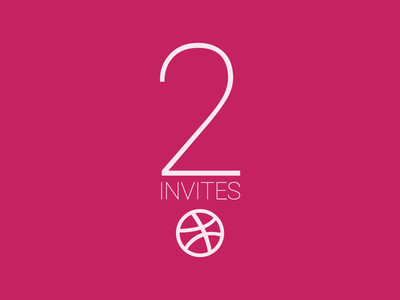 2 Invites dribbble invites invitation prospects