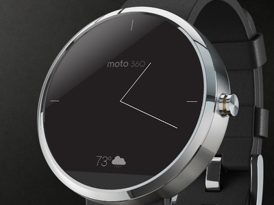 Simple Moto 360 WatchFace moto360 androidwear androiddesign wearable smartwatch ui faceoff