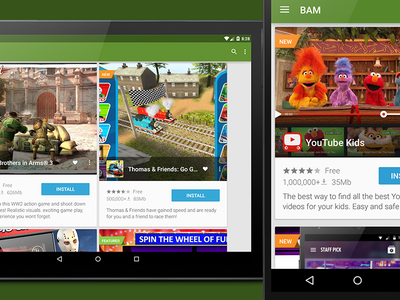 Img Bam Feed android ui ux apps material design tablet nexus