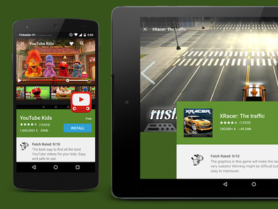 BAM App Detail Screen android ui ux apps material design tablet nexus