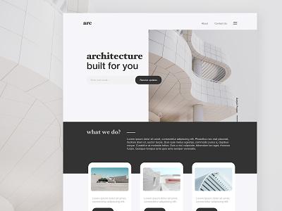 Landing Page - Architecture landing page dailyui 003 dailyui website design web design website web