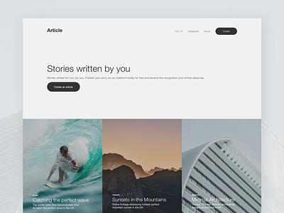 Landing Page - Article web design web landing page website design website