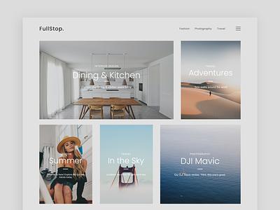 My First Figma Design - Website Blog figma landing page web design blog website web