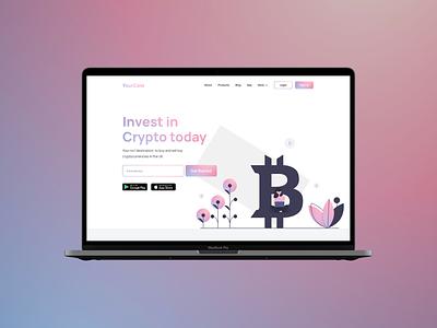 Crypto Website Exploration. nft crypto bitcoin minimal landing page web design web website