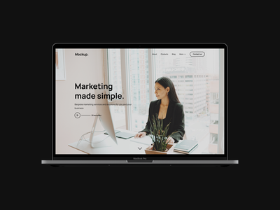 Business Website Mockup. design landing page web design minimal web website