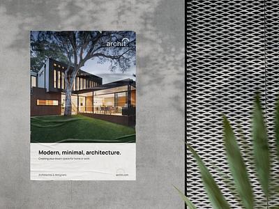 Architecture Poster Design - Concept. mockup architecture minimal posters poster