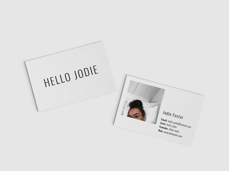 Hello Jodie Business Cards design business card minimal photo
