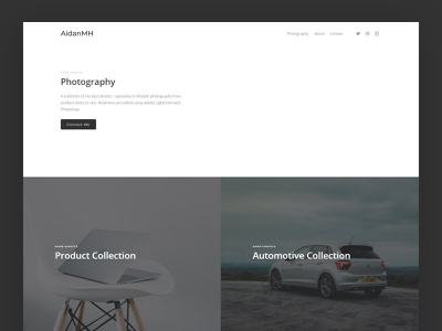 Photography Website photo web design minimal photography website photography website web