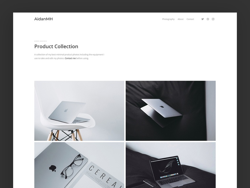 Photography Website - Gallery web website photography photo minimal