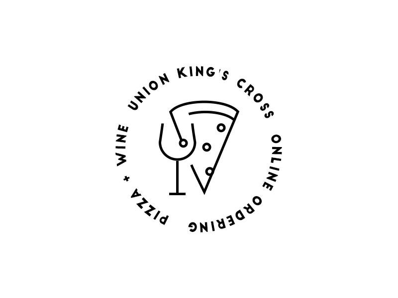 Union King's Cross Pizzeria mark restaurant logotype logo identity food branding wine pizza pizzeria