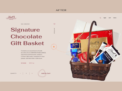 Lindt Product Page web ui typography shop product e-commerce concept chocolate animation after before