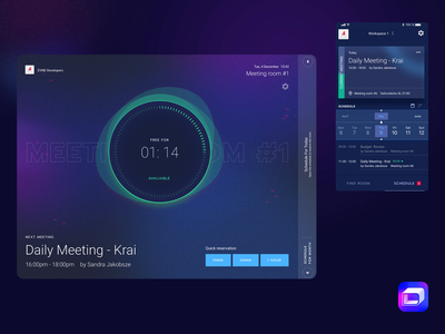 Delibroom – Meeting room booking solution tablet reservation planner organize mobile meeting room meeting management design calendar booking app