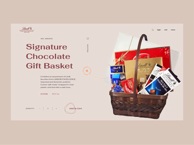 Chocolate Gift Basket webdesign website sweets luxury premium concept product typography transition ui interaction animation chocolate e-commerce shop web