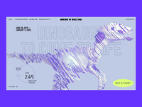"""""""Artics"""" Art Gallery – """"Dinosaurs come to life"""" exhibition interaction interface dinosaur tech ui animated museum gallery exhibition web 3d web design animation"""