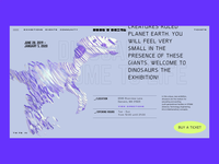 """Artics"" Art Gallery – ""Dinosaurs come to life"" exhibition ui design gallery interface interaction tech dinosaur animated 3d museum exhibition animation web design web ui"
