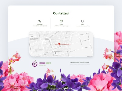 Giardino Segreto   Footer map flower contacts ui footer