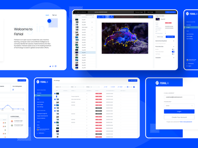 AI Fish recognition platform dashboard ui recognition fishes fishing fish artificial intelligence ai dashboard ux design ui