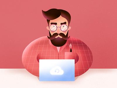 World Backup Day programmer designer inspiration download protestion man green freebie backup data procreate art procreate illustrator design illustration