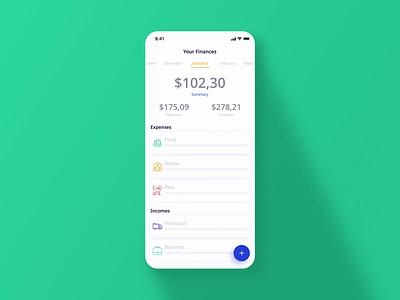 Receipt scanner 💰💰💰 money management monitoring planning recipt ai clean minimal product icon simple shop finance money animation protopie app mobile ux design ui