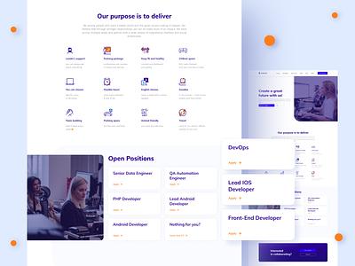 Codahead Redesign - Career open positions jobs ux clean ui ui website design website modern layout landingpage interaction career design custom clean business