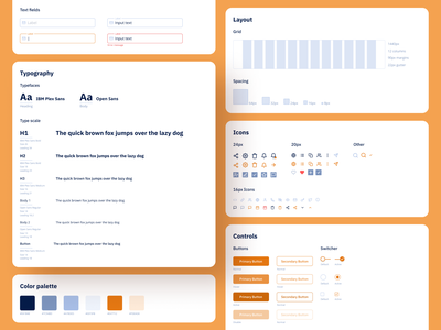 Listables Redesign - Style Guide hover buttons h1 icons spacing grid inputs color palette colors typography guidelines styleguide webapp web react ux design ui