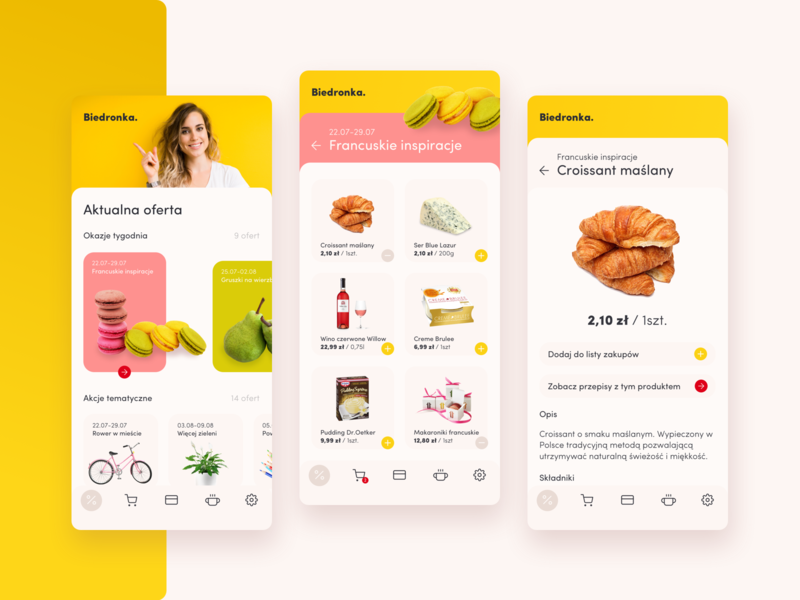 """Shopping App """"Biedronka"""" offers grocery app app food app mobile food shopping grocery ux design ui"""