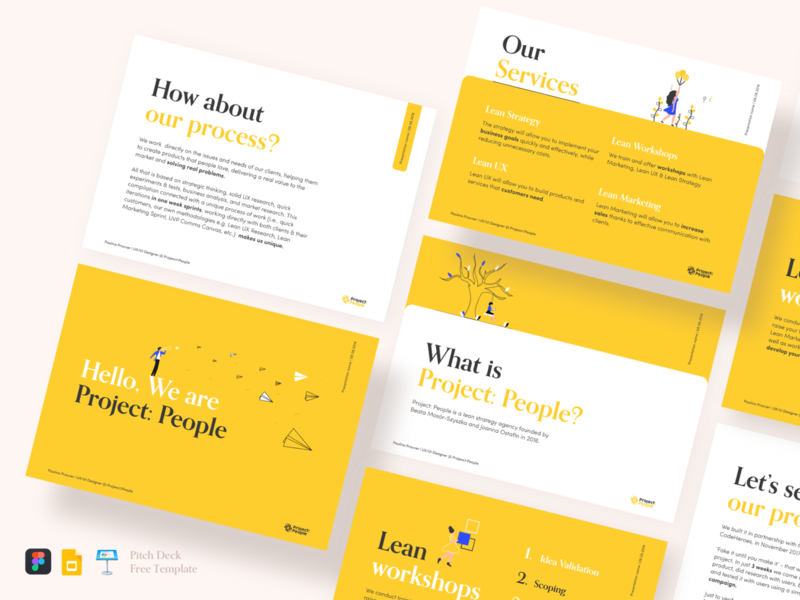 Pitch deck free template project idea deck presentation keynote presentation template keynote gslides pitch deck startup deck business investor pitch deck design pitch deck pitchdeck vector illustration design ui
