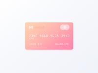 Minimal Monzo card design