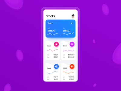 Coin Market App - Design Concept ui wallet bank concept platform earnings withdraw deposite exchange token mining market stock currency crypto cryptocurrency coins blockchain money bitcoin