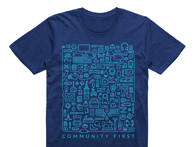 Massdrop communityfirst shirt