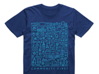 """Massdrop """"Community First"""" Shirt"""