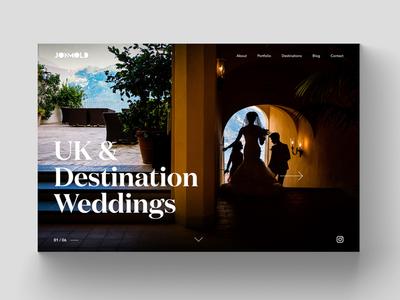 Jon Mold Wedding Photography Website Design
