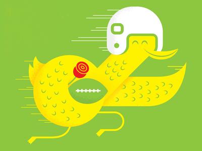 On To The Natty! oregon ducks rose bowl football design illustration