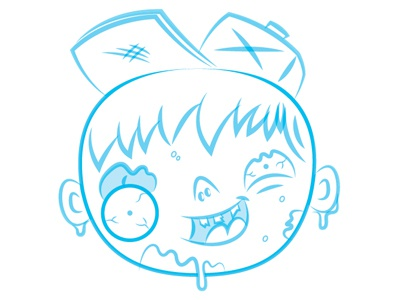 Zombie Boy Sketch For A Thing zombie illustration sketch