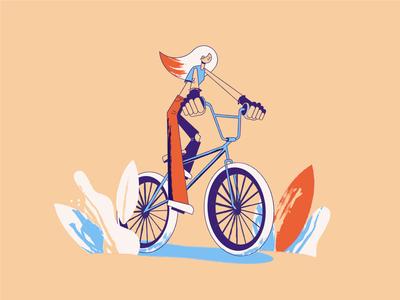 Girl on a BMX