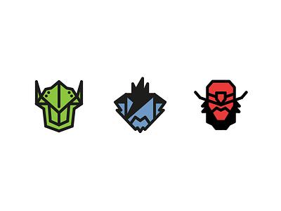 Overwatch Icons 1 video game icon cowboy samurai ninja mccree hanzo genji overwatch