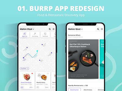 Burrp App - Find Restaurants & Food Near You burrp food ui food-order food-app redesign restaurant app