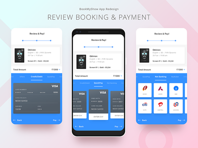 07. BookMyShow App Redesign ios material design redesign interaction ui app prototype showtime seats selection booking movie