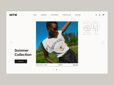 KITX Concept fashion shopify sustainable web design homepage ui ux e-commerce clean