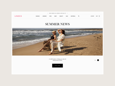 Lindex - Homepage Concept shopify fashion web homepage e-commerce design clean ux