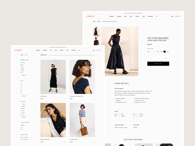 Lindex - Collections & Product Page Concept style minimal design e-commerce ux ui clean shopify product