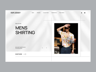 Our Legacy - Homepage Concept engaging fashion shopify contrast product interface clean homepage ux ui web design e-commerce
