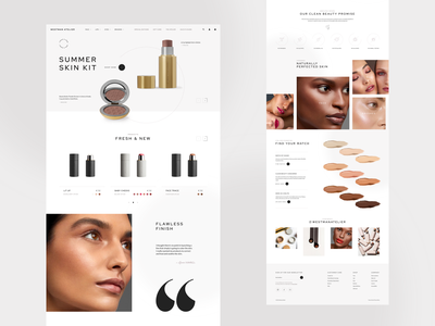 Westman Atelier - Homepage Concept natural skincare shopifyplus product shopify fashion beauty shades makeup skin homepage ux ui design e-commerce clean